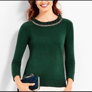 Talbots Rsvp Green Embellished Sweater NWT
